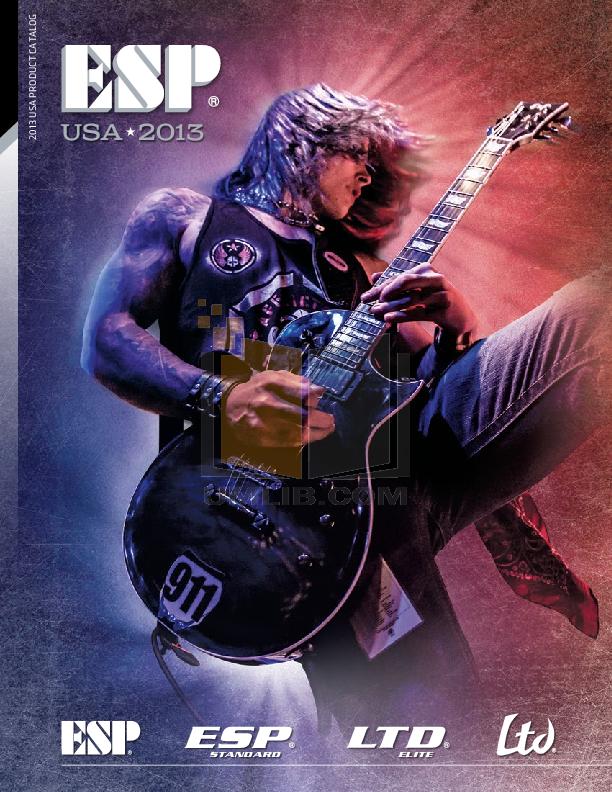 pdf for ESP Guitar EC-200QM manual