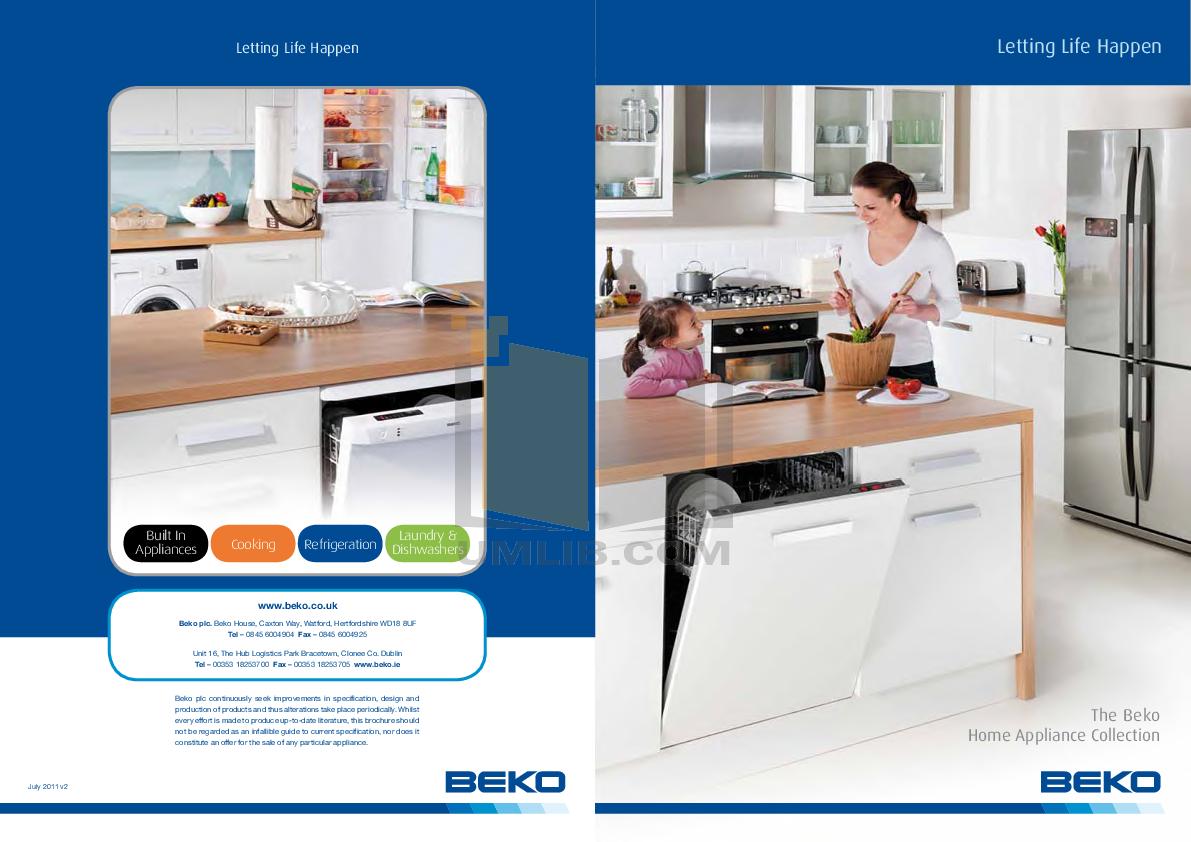 pdf for Beko Refrigerator CDA539F manual