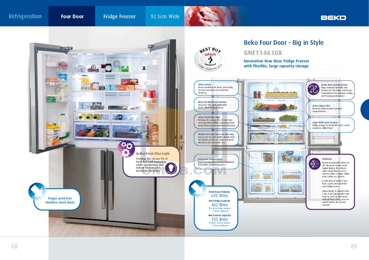 Beko Refrigerator CDA539F pdf page preview