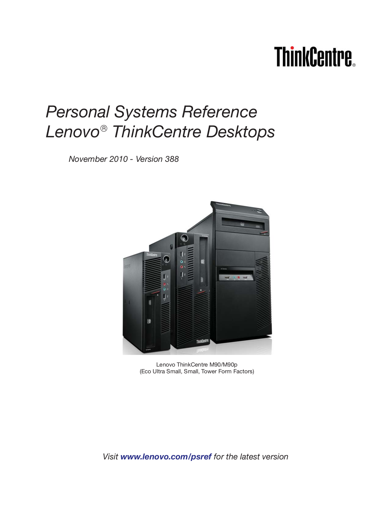 pdf for Lenovo Desktop ThinkCentre M90p 3257 manual