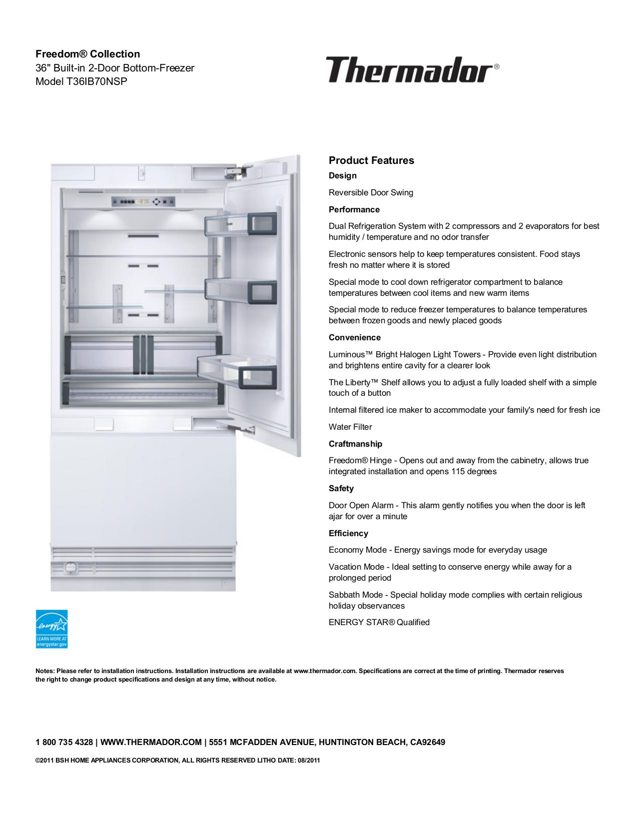 download free pdf for thermador freedom t36ib70nsp refrigerator manual rh umlib com thermador french door refrigerator manual thermador refrigerator repair manual