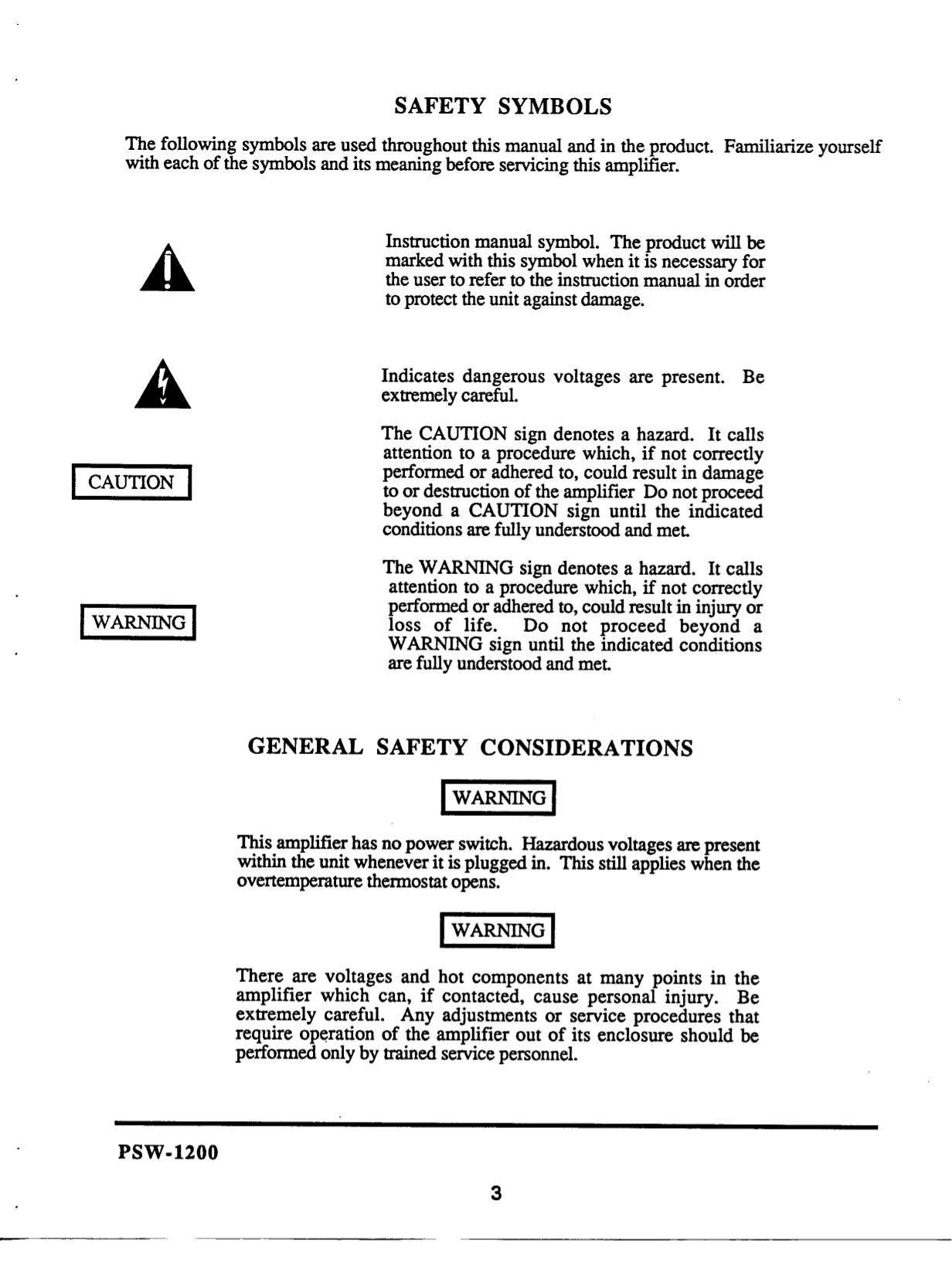 PDF manual for JBL Speaker PSW1200