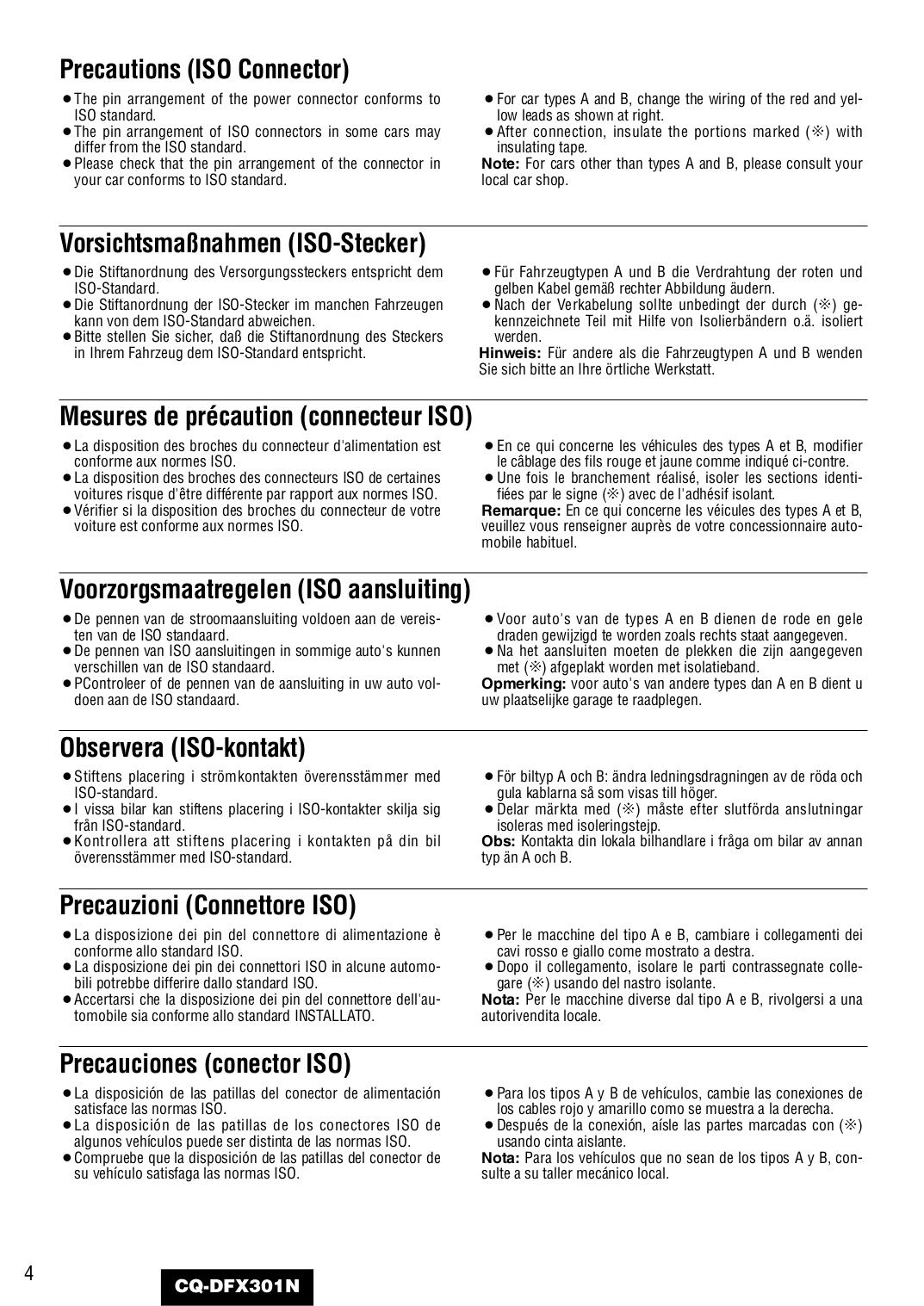 Panasonic Cq Dfx301u Wiring Diagram And Schematics Dak Pdf Manual For Car Receiver Source Page Preview