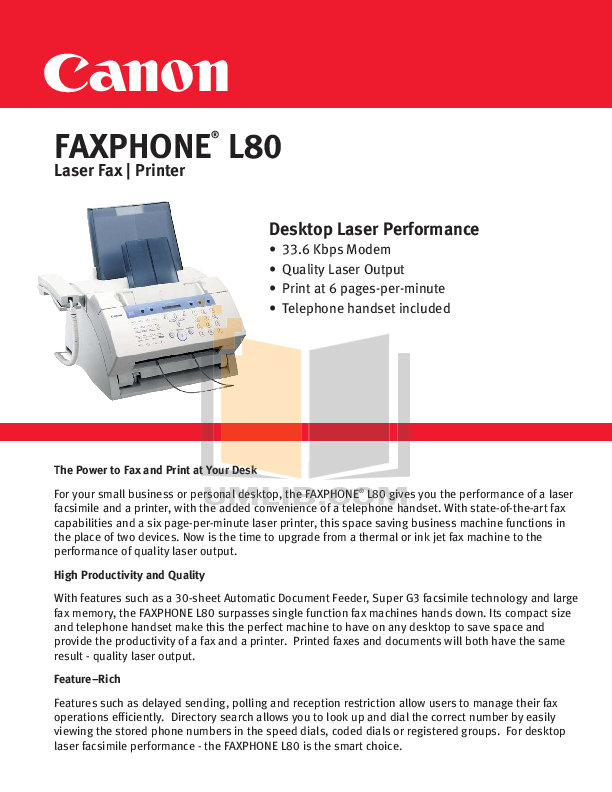 download free pdf for canon faxphone l80 fax machine manual rh umlib com Toner Cartridge canon faxphone l80 manual español