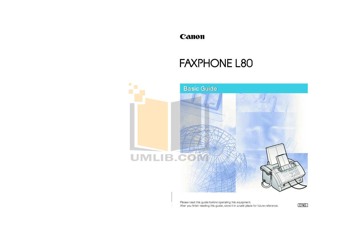 download free pdf for canon faxphone l80 fax machine manual rh umlib com Fax Machine Canon Ink Cartridges