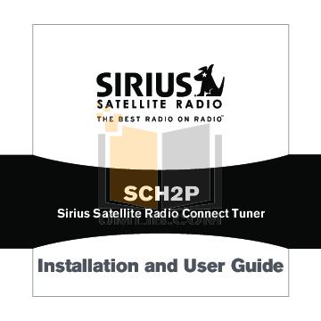 pdf for Audiovox Satellite Radio SCH2P manual