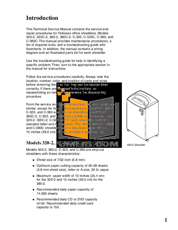 pdf manual for fellowes other c 320c shredders rh umlib com
