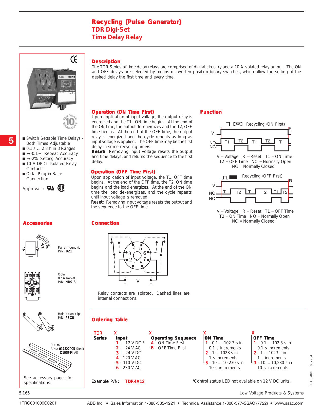 Pdf Manual For Viking Other Tdr 1 Time Delay Relays 12 Volt Off Relay Page Preview
