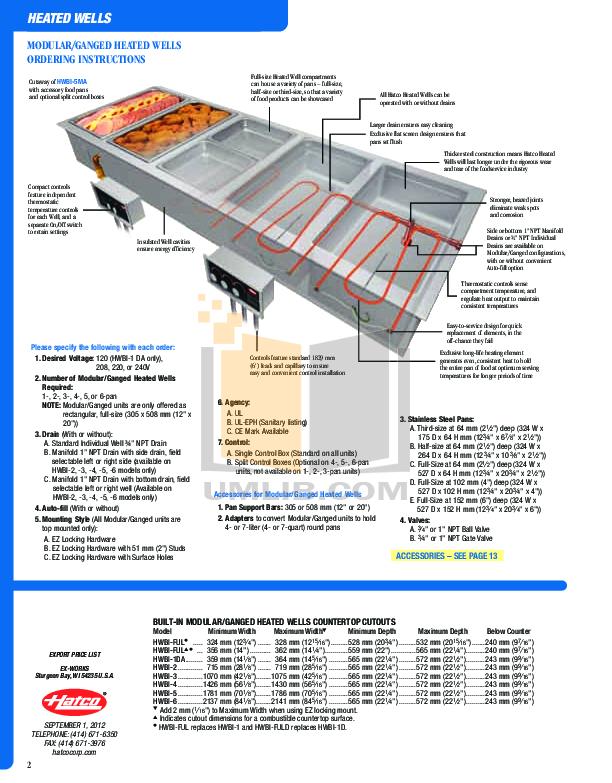 Hatco Other GR2AL-24D pdf page preview