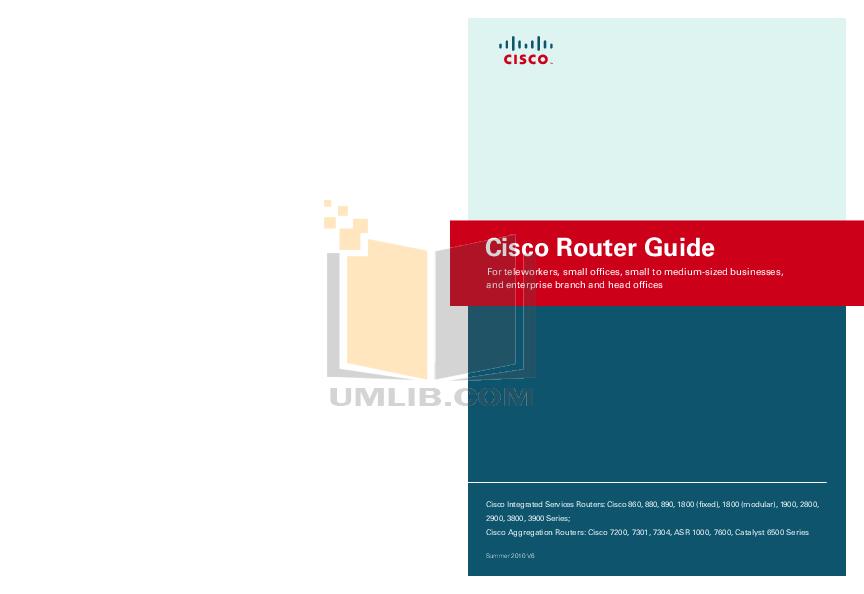 pdf for Cisco Router ASR 1004 manual