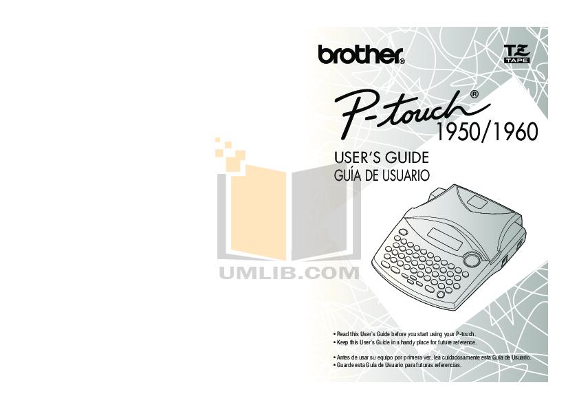 pdf for Brother Printer PT-1950 manual