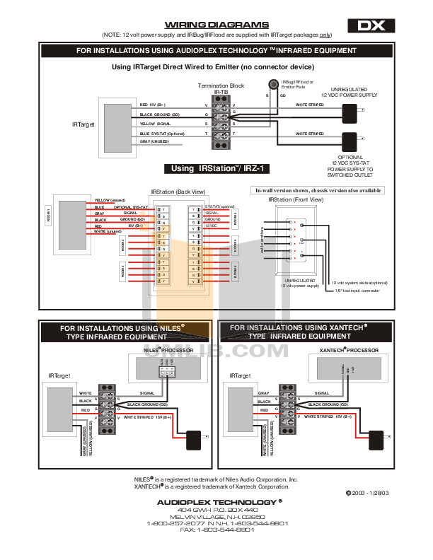 Audioplex Other K-2 IR Signal System pdf page preview