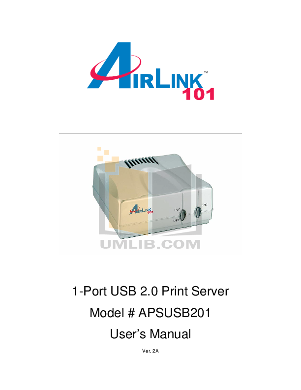 pdf for Airlink Other APSUSB201 Servers manual
