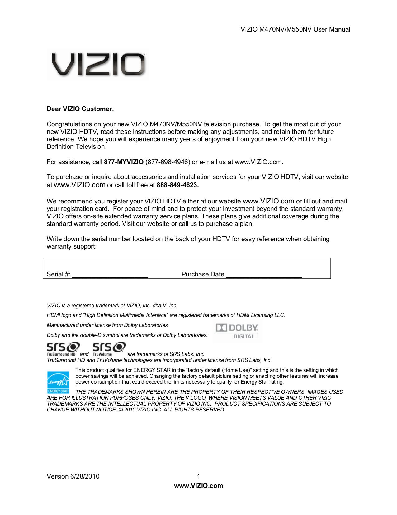 download free pdf for vizio m470nv tv manual rh umlib com vizio m370nv manual Vizio M470NV Razor LED