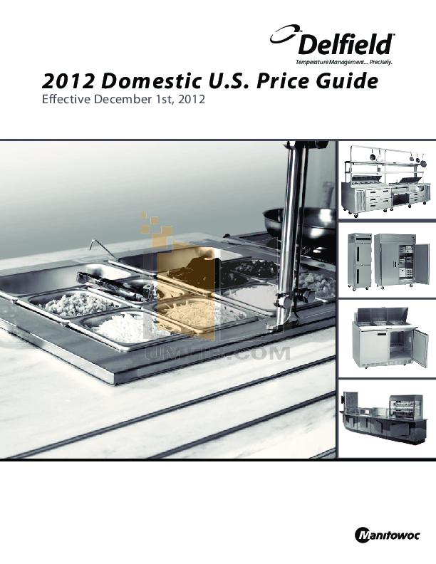 pdf for Delfield Refrigerator SSRFF2-S manual