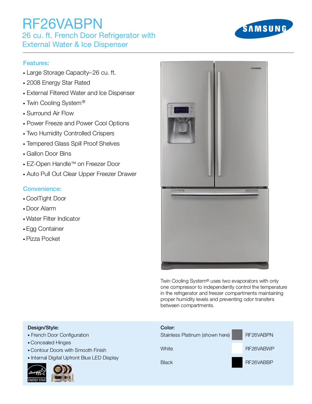 Download Free Pdf For Samsung Rf266abpn Refrigerator Manual