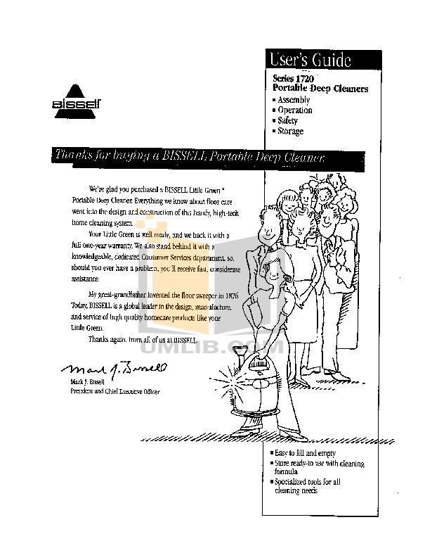 pdf for Bissell Vacuum 1200 manual