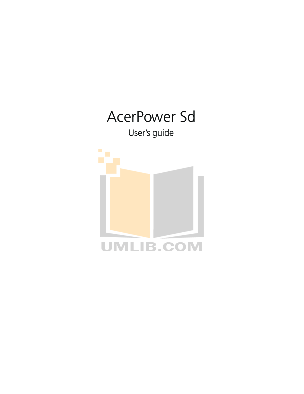 pdf for Acer Desktop AcerPower 2000 manual