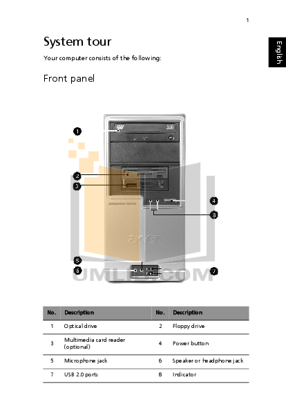 Acer Desktop AcerPower 2000 pdf page preview