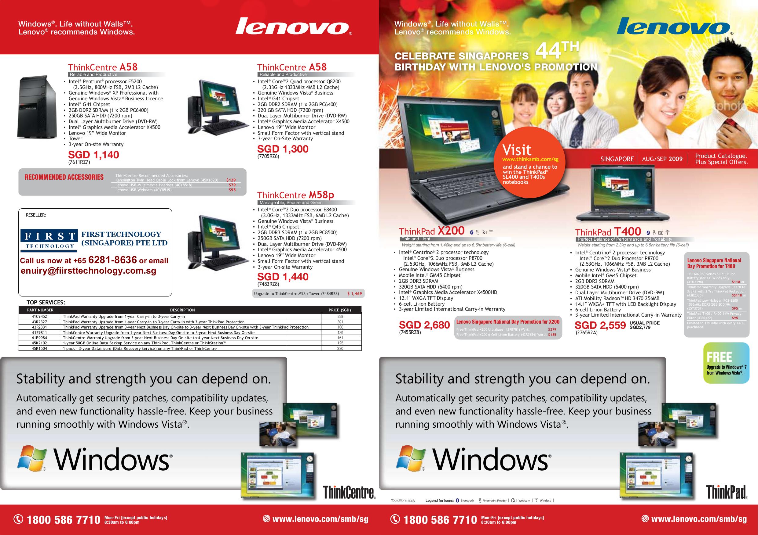 pdf for Lenovo Desktop ThinkCentre A58 7611 manual