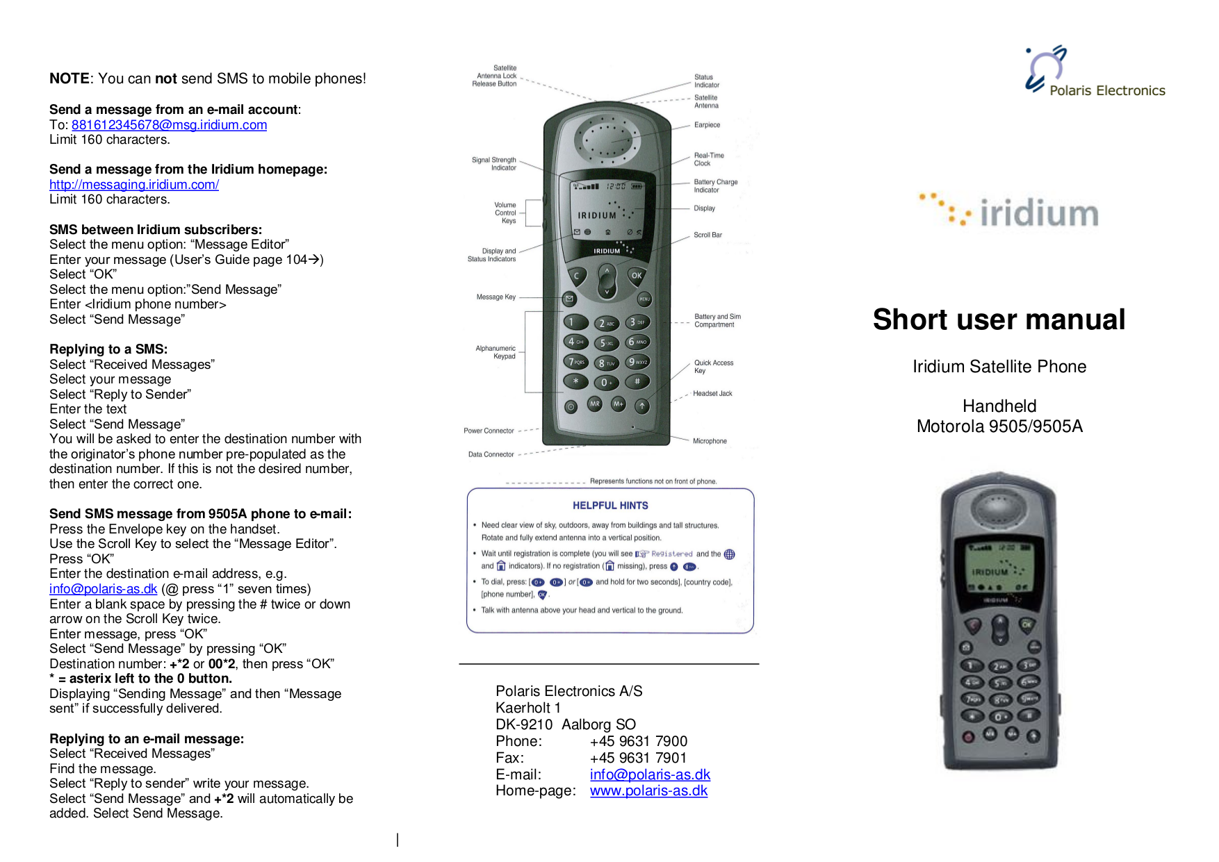 Iridium 9505a satellite phone инструкция