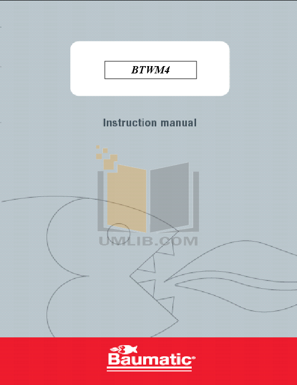 pdf for Baumatic Washer BTWM4 manual