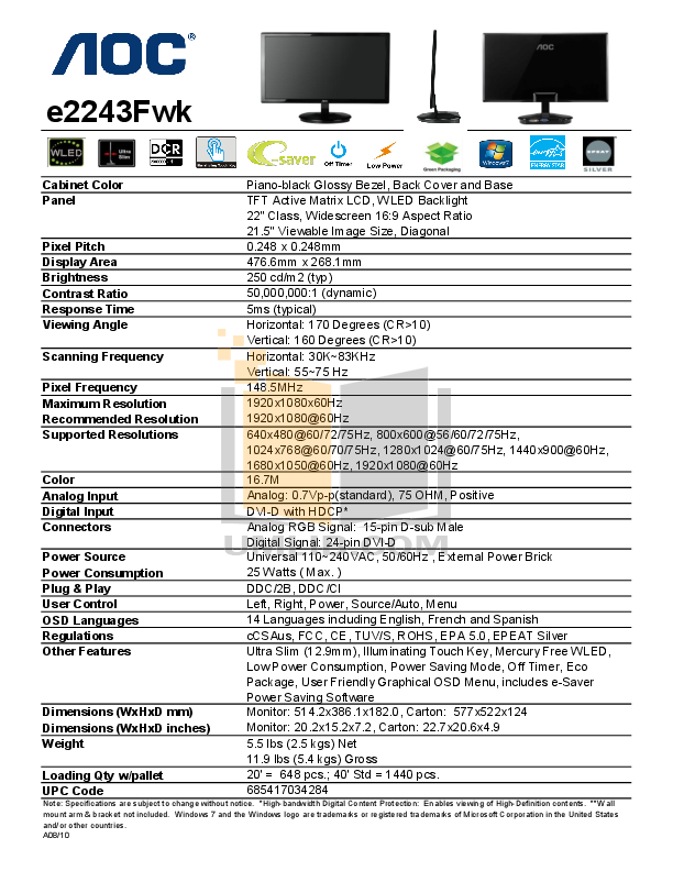 aoc e2243fwk manual how to and user guide instructions u2022 rh taxibermuda co