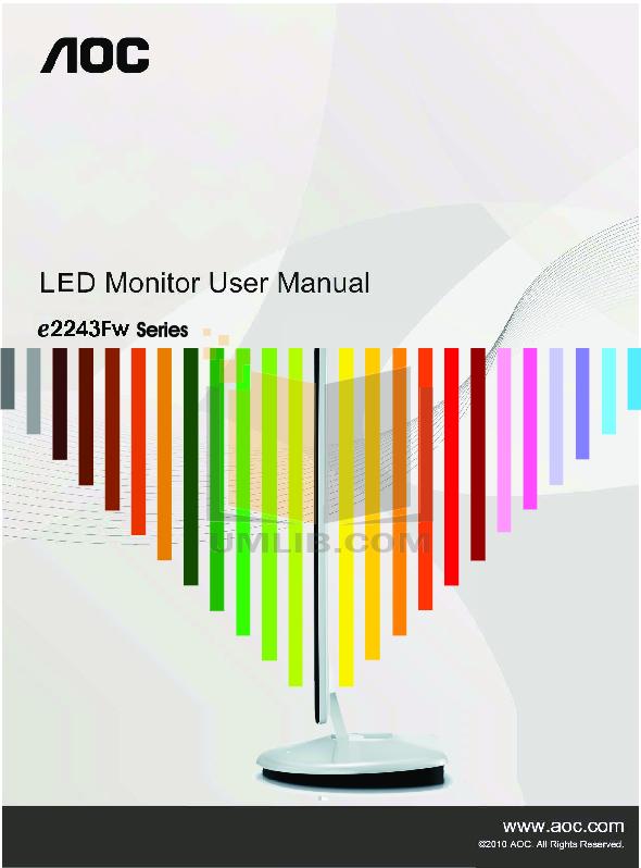 pdf for AOC Monitor E2243FWK manual