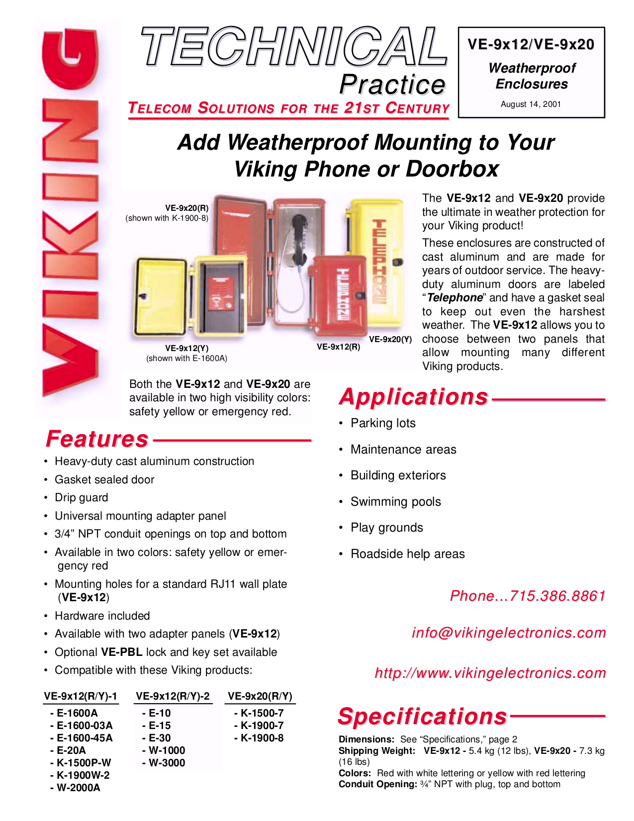 pdf for Viking Other VE-9x12 Doorboxes manual