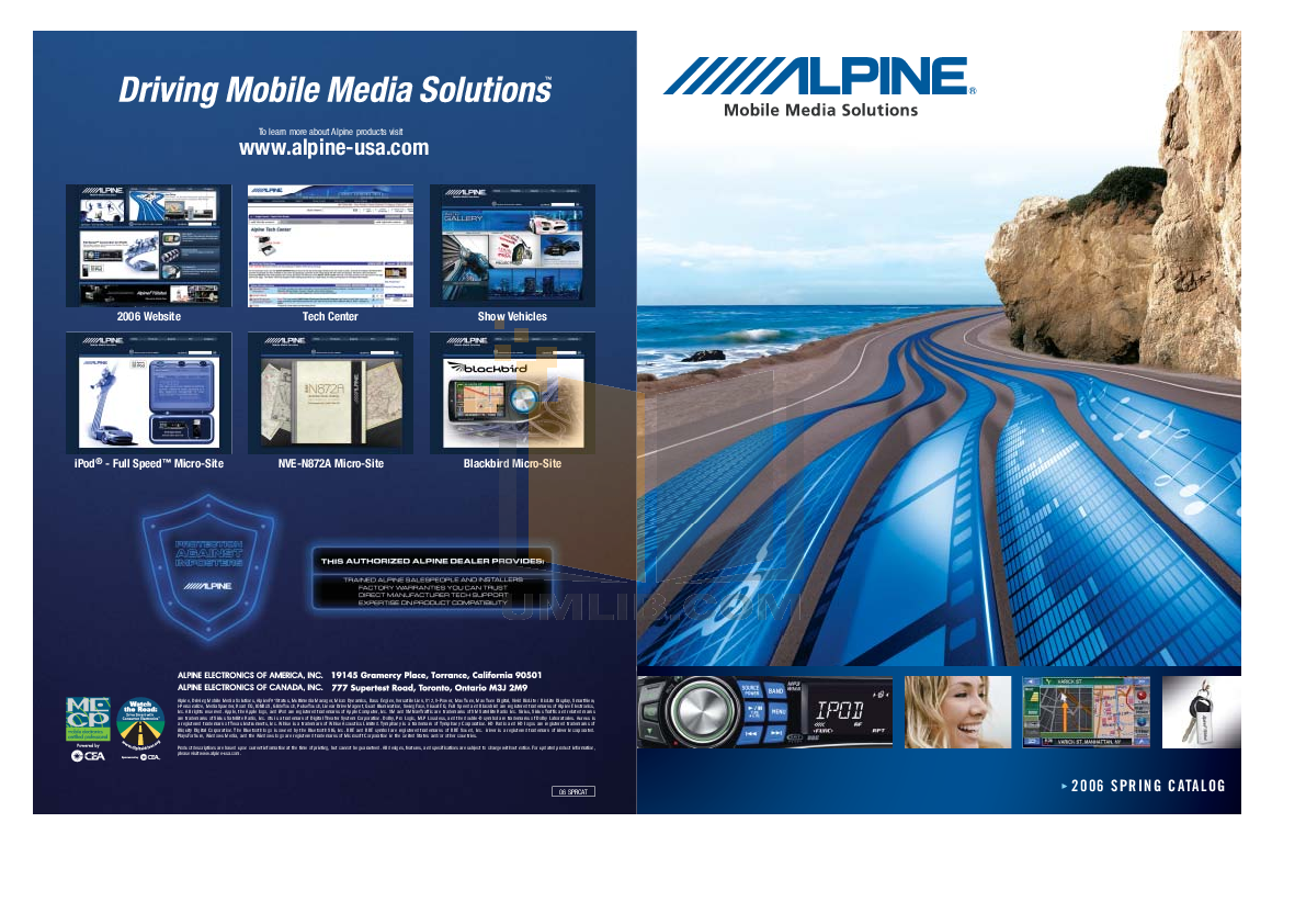 pdf for Alpine Other SPX-17MB Car Speakers manual
