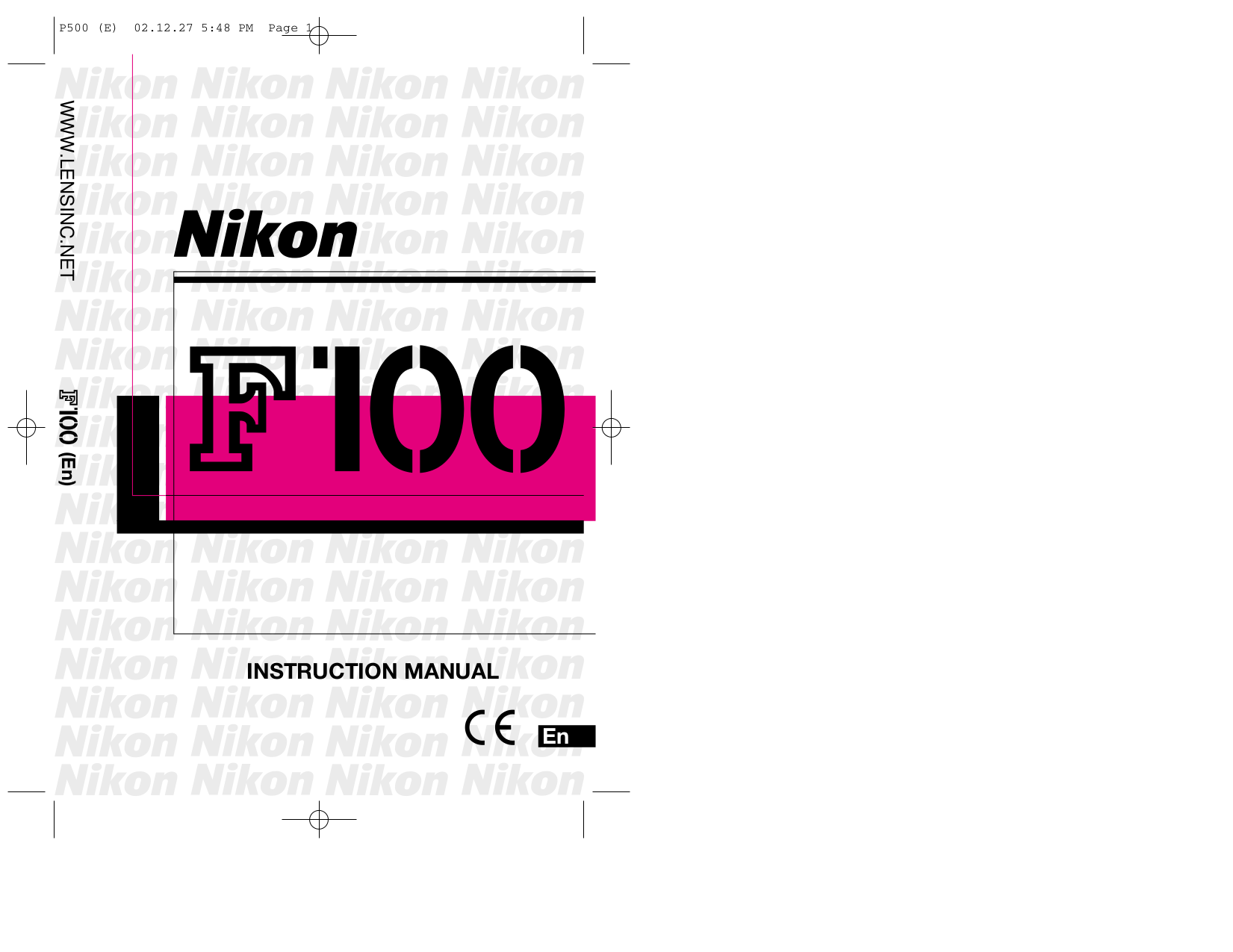 pdf for Nikon Other SK-6A Camera-Power Bracket Set manual