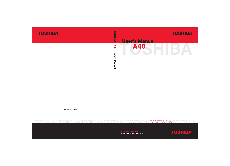 pdf for Toshiba Laptop Satellite A40-S270 manual