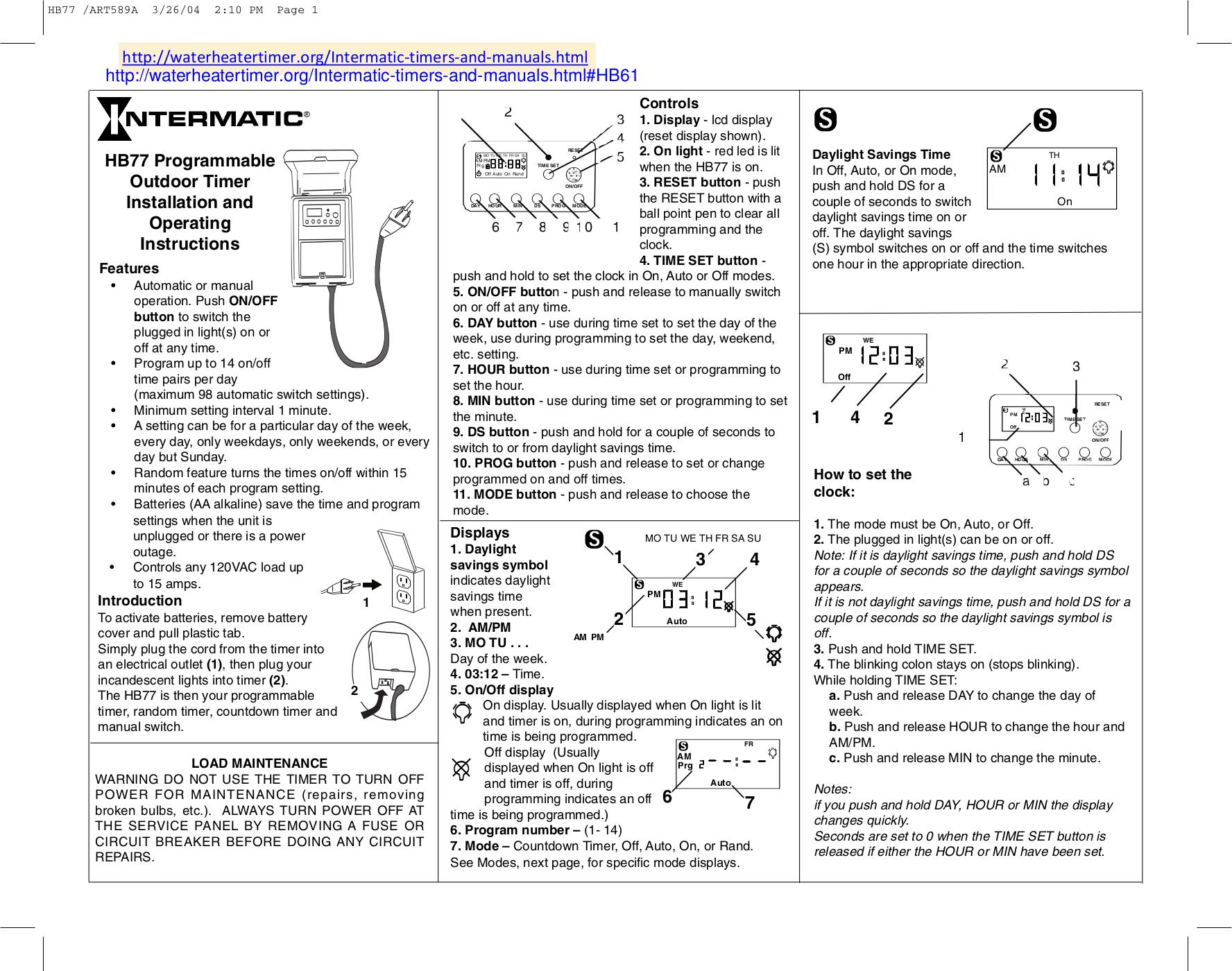 Intermatic hb77r.pdf 0 spa wiring diagrams catalina spa diagram wiring diagram ~ odicis catalina spa wiring diagram at bakdesigns.co
