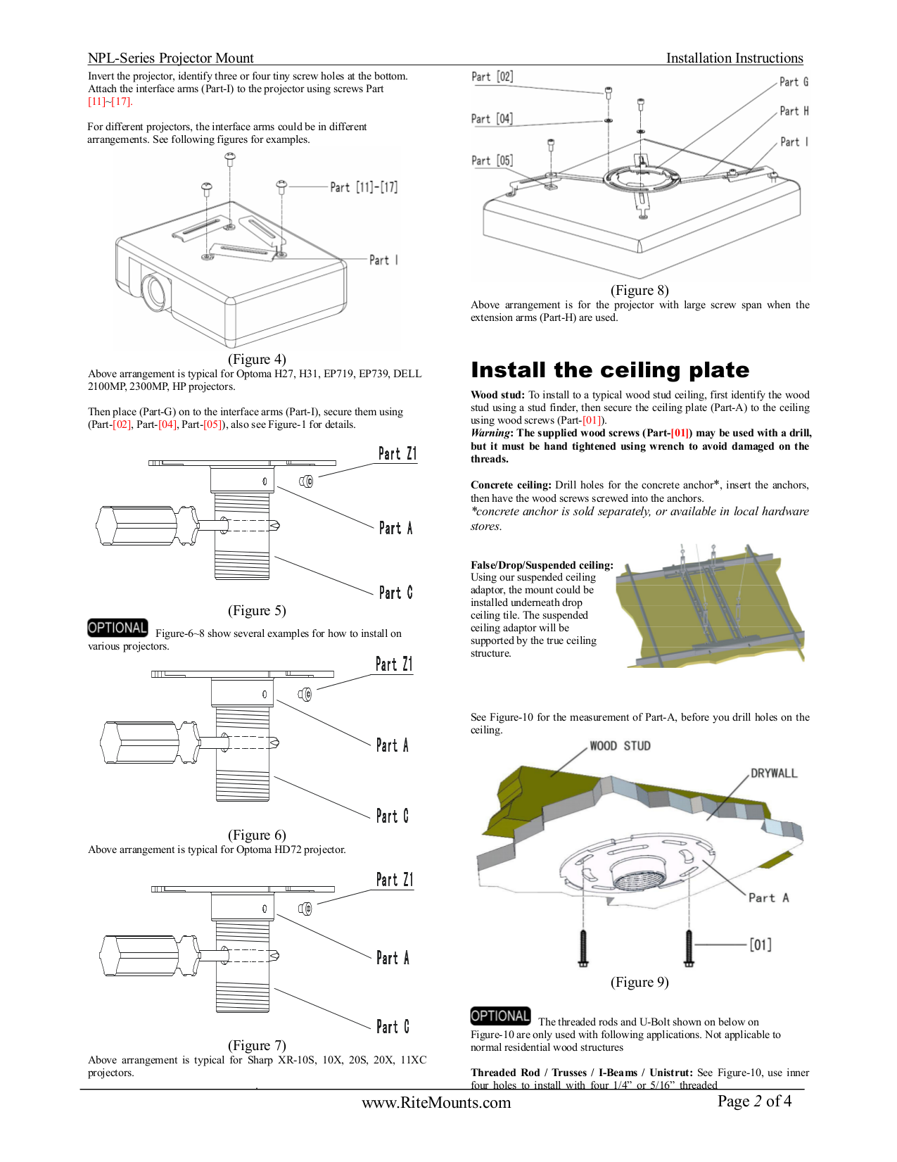 Optoma Projector H27 pdf page preview
