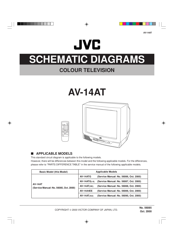 Circuit Diagram Jvc Tv Nve Media Colour T V Pdf For Av 14at Manual