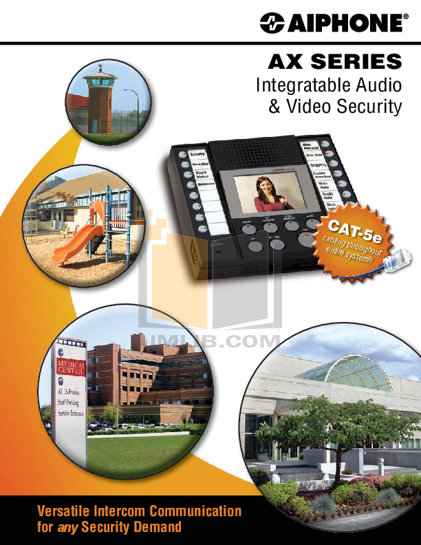 pdf for Aiphone Other AXW-AZ Intercoms-Accessory manual