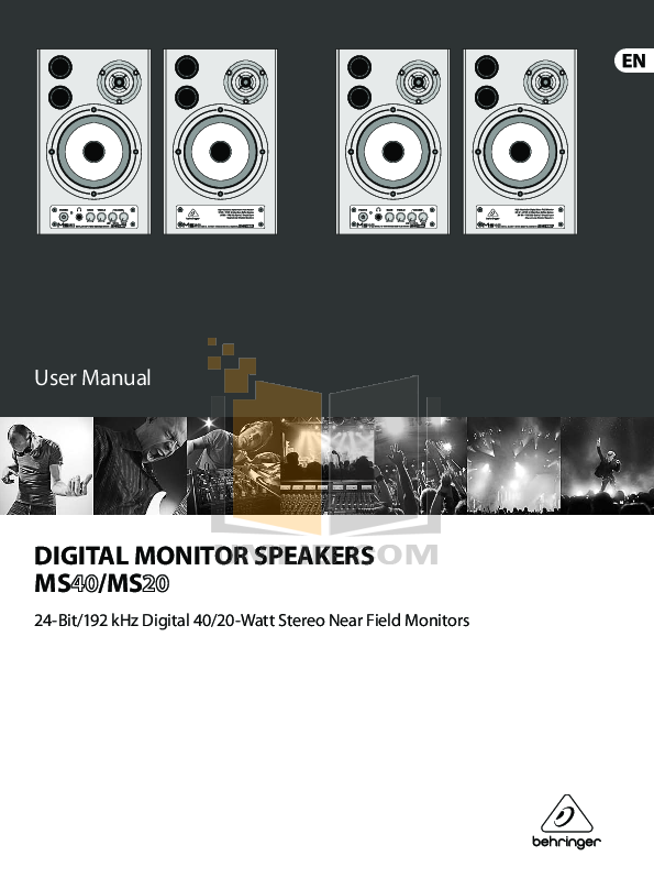 pdf for Eaw Speaker System MS20 manual