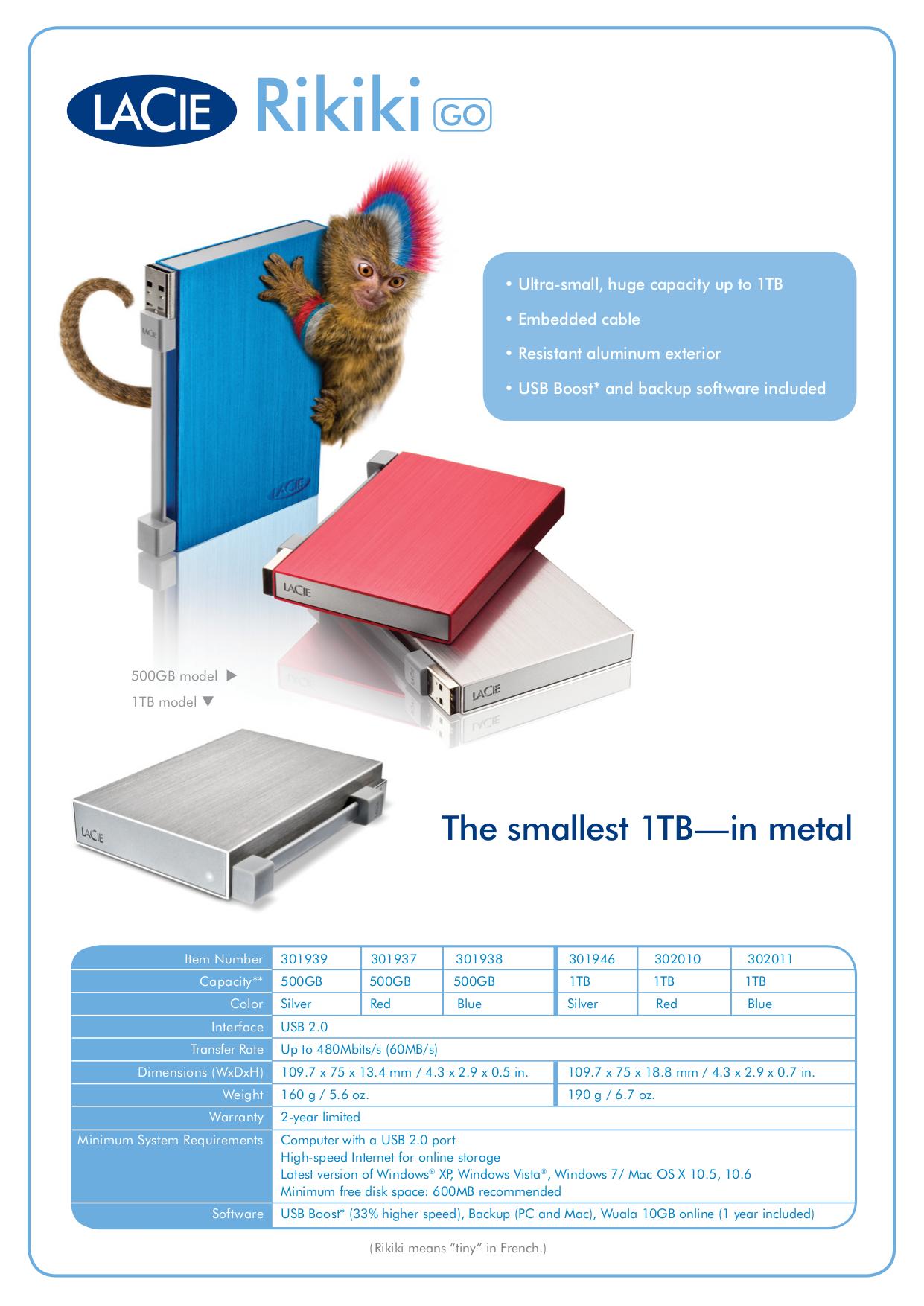 pdf for LaCie Storage 301946 manual