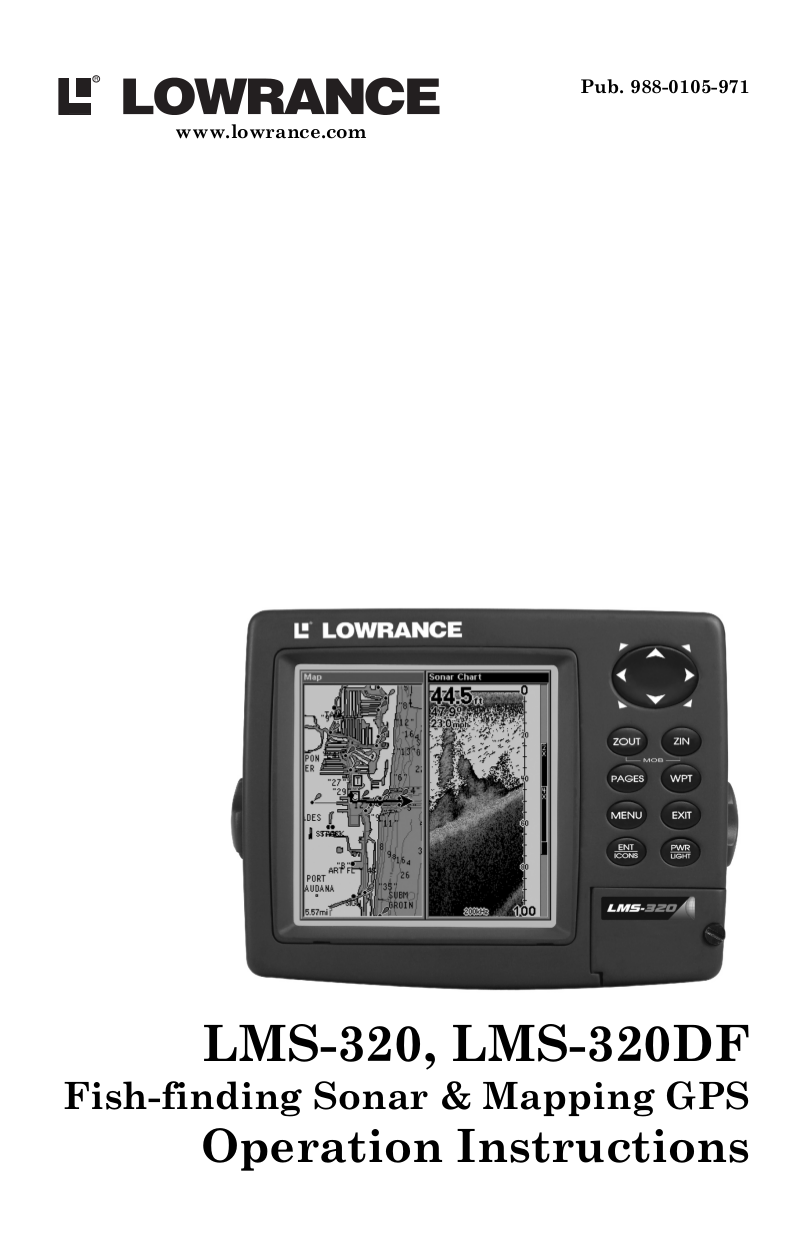 pdf for Lowrance GPS LMS-320 manual