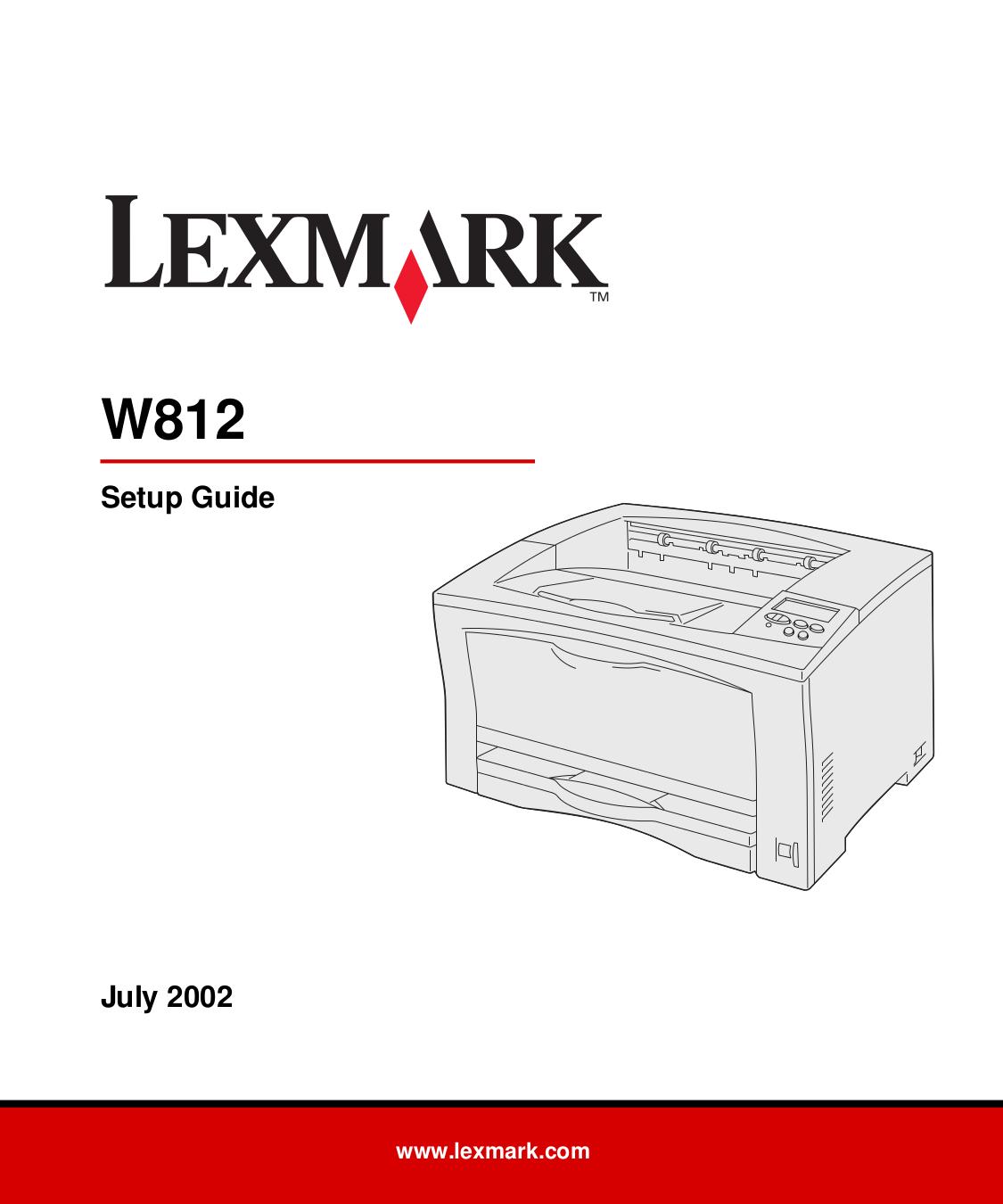pdf for Lexmark Printer W812n manual