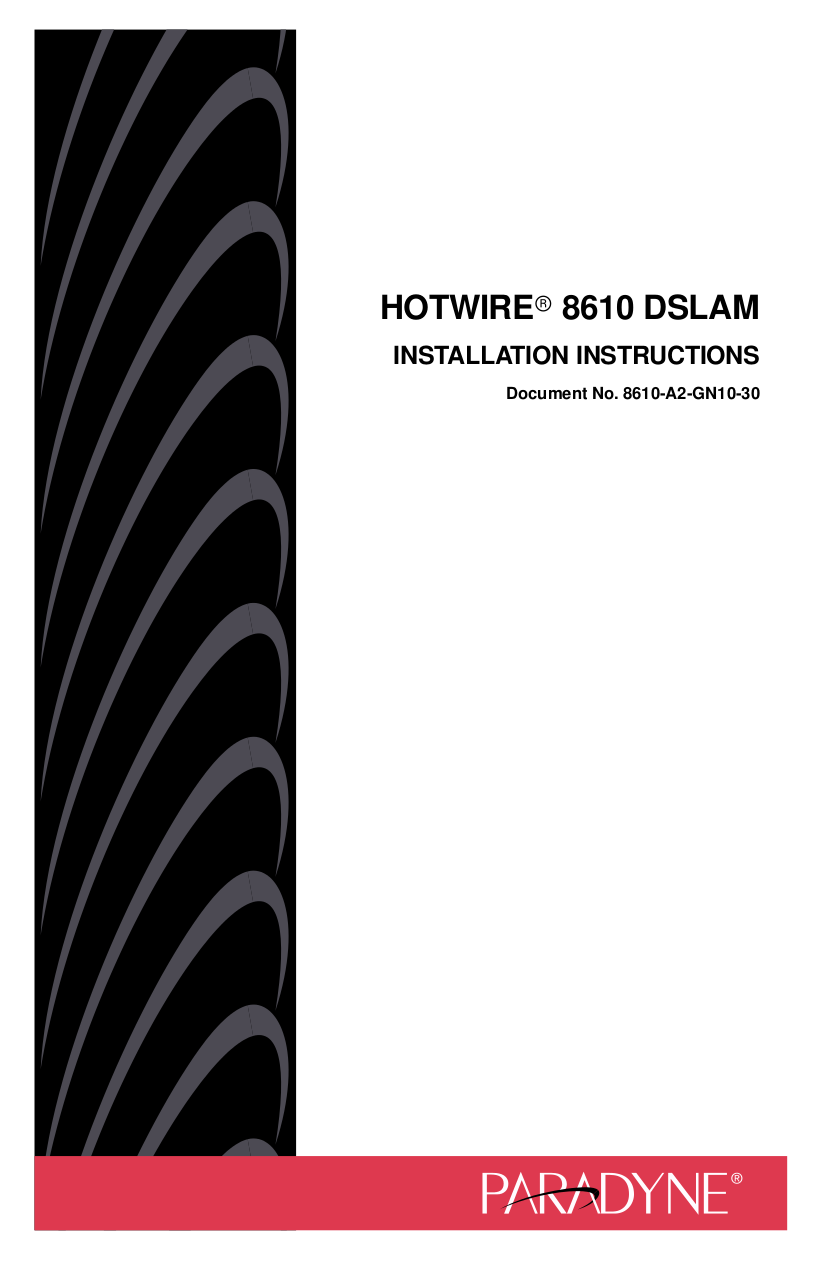 pdf for Nortel Router HotWire 8600 DSLAM manual