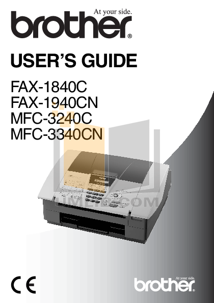 download free pdf for brother fax 195 fax machine manual rh umlib com Brother Fax 4100 brother fax 1840c mode d'emploi