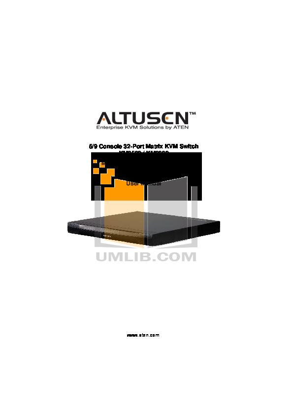 pdf for ATEN Other Altusen KH-1516 KVM Switch manual