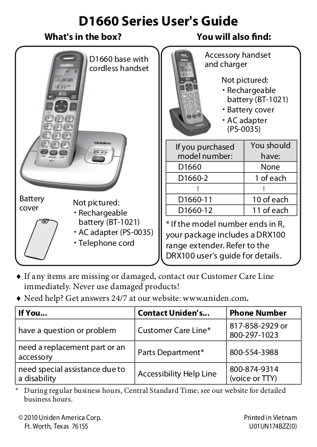 download free pdf for uniden d1660 2 telephone manual rh umlib com Uniden -DECT 6.0 D1660 Manual Uniden -DECT 6.0 D1660 Manual