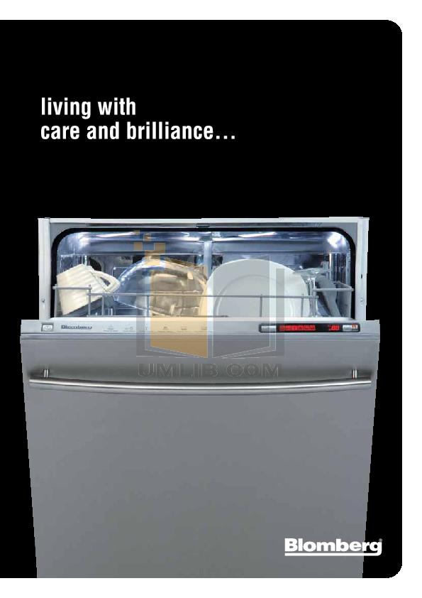pdf for Blomberg Dishwasher DW34110 manual