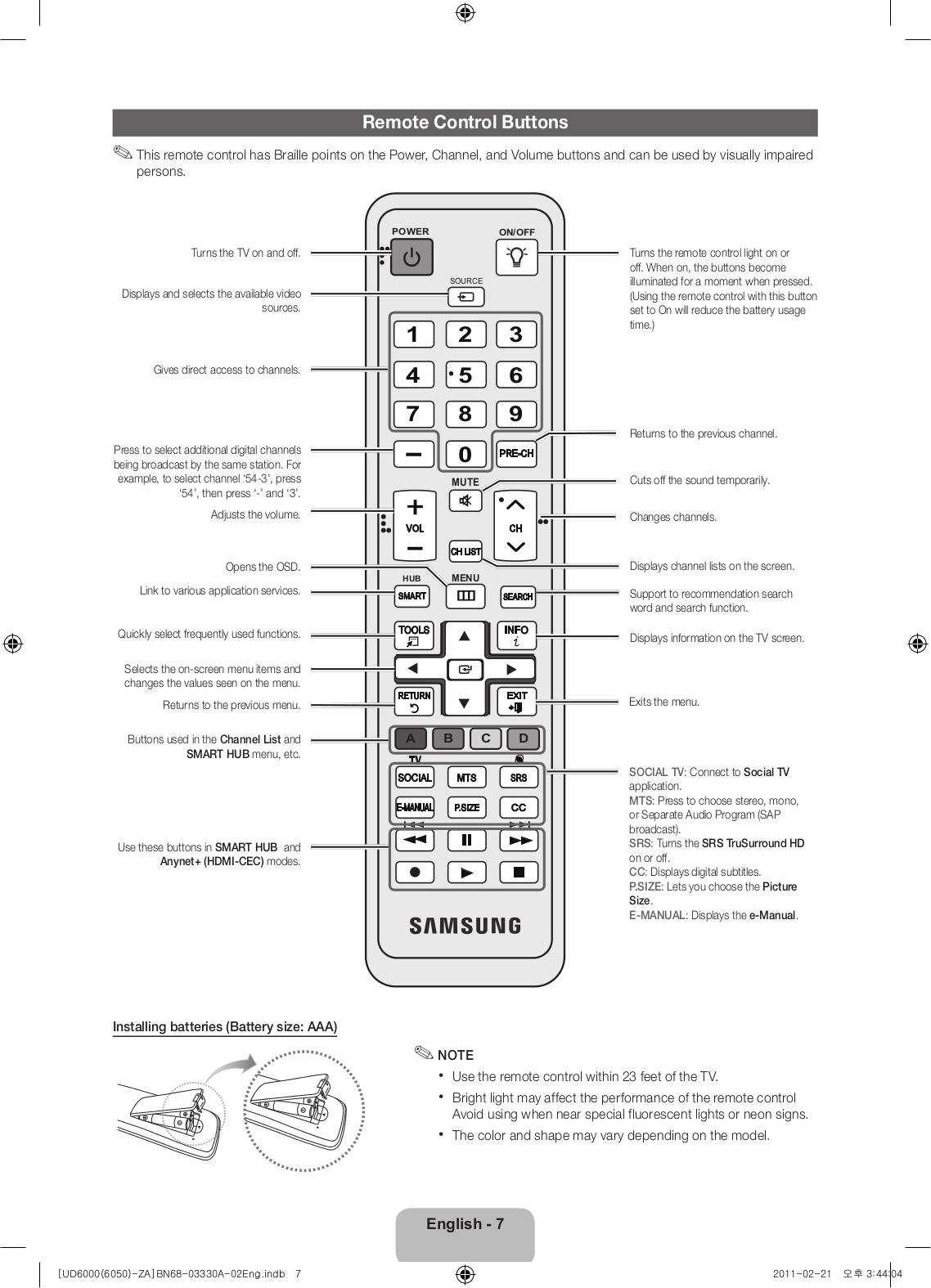 pdf manual for samsung tv un55d6000
