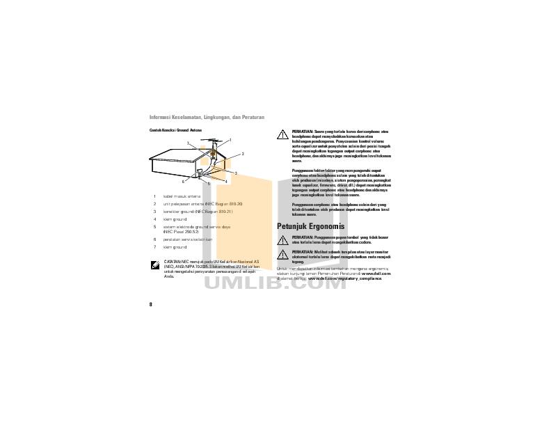 Dell Monitor S199WFPV pdf page preview