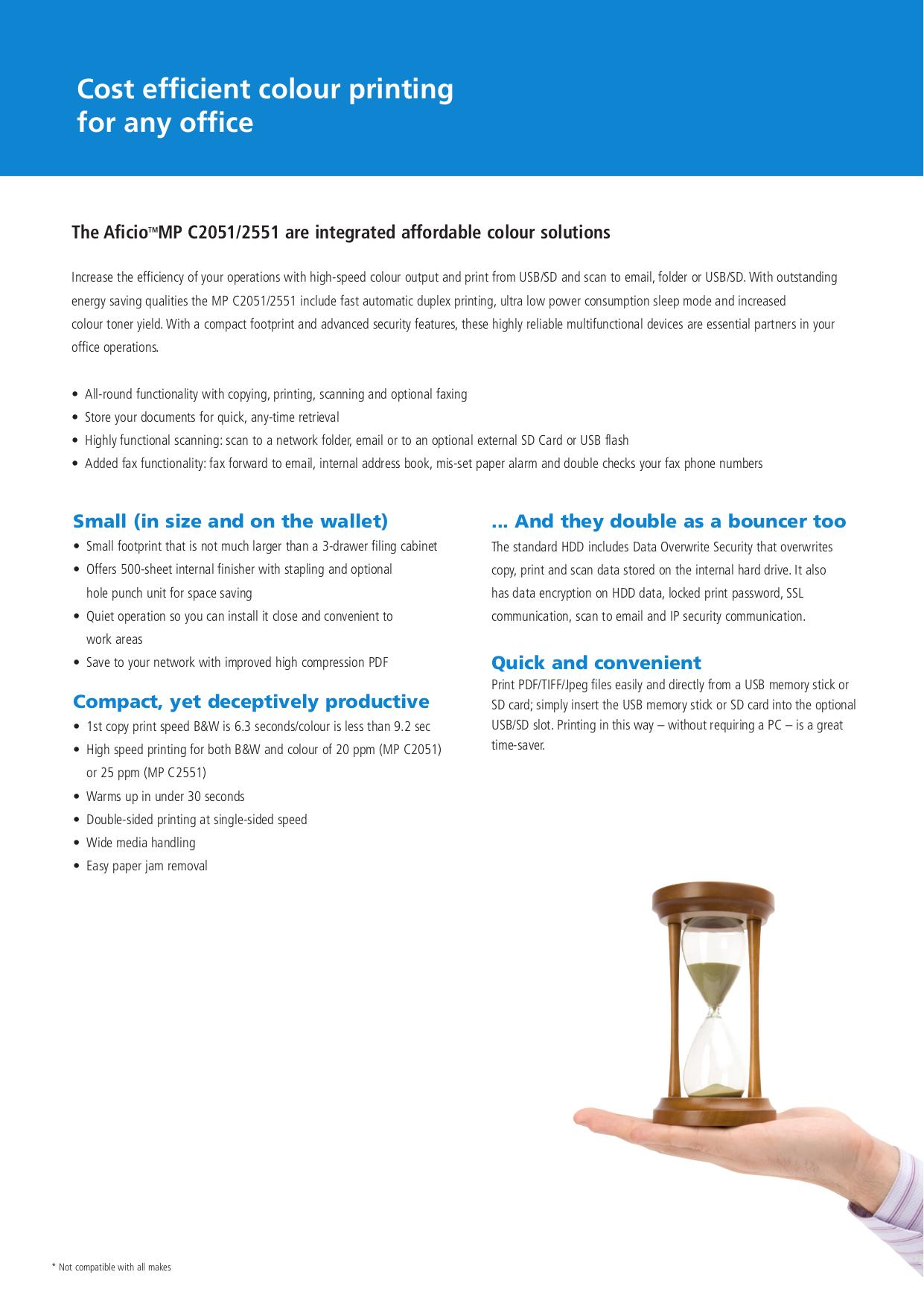 PDF manual for Ricoh Multifunction Printer Aficio 2051