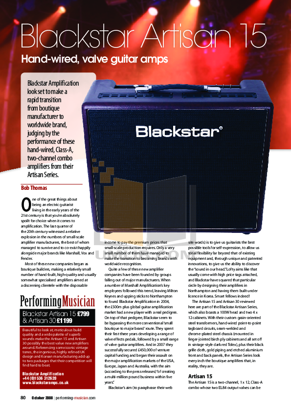 download free pdf for blackstar artisan artisan 30 amp manual. Black Bedroom Furniture Sets. Home Design Ideas