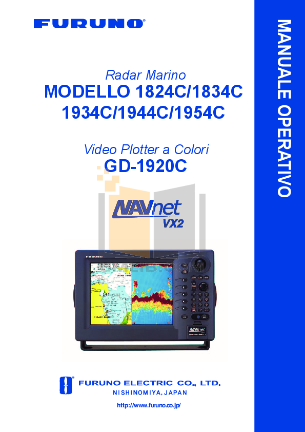 pdf for Furuno Other NavNet 1834C-BB Video Plotter manual